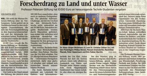 Excerpt from the Kieler Nachrichten.